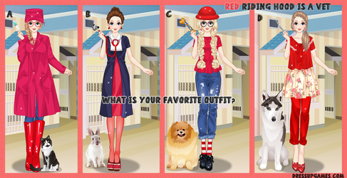 Red Riding Hood is a Vet Dress Up Game by DressUpGamescom