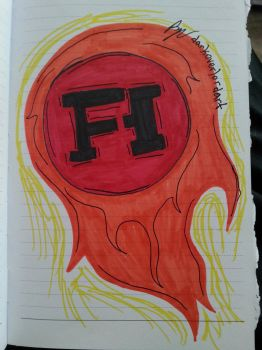 Inktober Day 5: Funhaus flaming logo by Koragg1