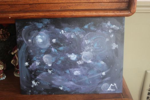 Galaxy painting by Grell13