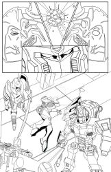 Transformers - Cybertronians page 21 ink by shatteredglasscomic