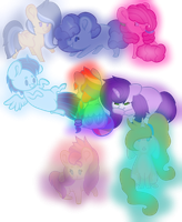 Children Mane 6 by AppleSweetness
