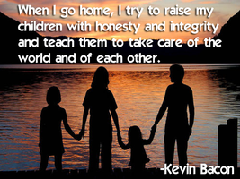 Kevin Bacon on Raising his Children by JanetAteHer