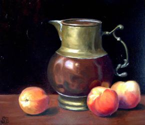 Still Life with Peaches by guernica2009