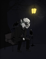 Sad old man by GHOSTWUFF