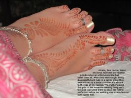 Micro Curse at Indian Bride's Feet by youranus32