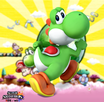 Super Smash Bros. Wii U / 3DS - Yoshi by Legend-tony980