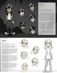 Mine Character Sheets: Coal and Jewel by Smudgeandfrank