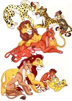 Lion Guard Families by WhiteFangKakashi300