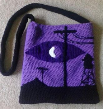 Welcome to Night Vale Crocheted Bag by vassalady
