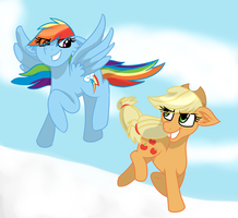 AppleDashing though the snow by Luckynight48