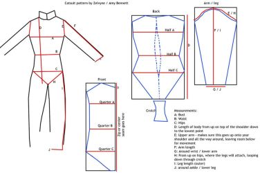 Catsuit sewing pattern by Zelvyne