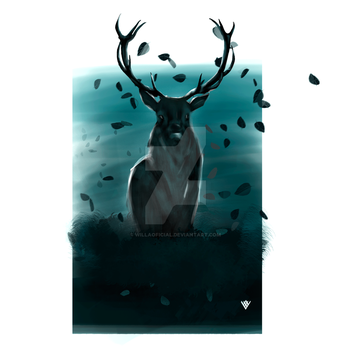 Old Deer by willaoficial