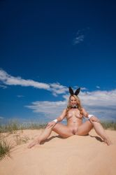 Curl Curl Easter Bunny: Naked #4 by KimCums