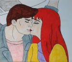 Peter Parker and Mary Jane Watson by JQroxks21