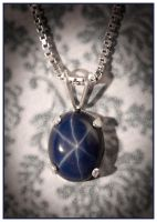 Star Sapphire Solitaire Pendant by Sarahorsomeone