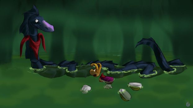 Ssssam and Rayman by NausiNoisette