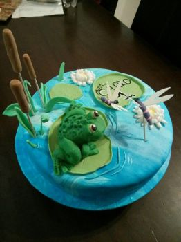 frog chocolate cake by CyanBlutgeissel