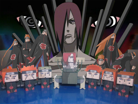 Cubeecraft Nagato and Six Path of Pain by RatedrCarlos