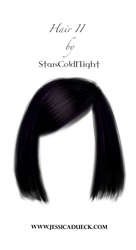 Black blue short hair png by StarsColdNight