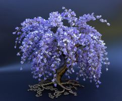 Purple Cascade - full tree by Twystedroots