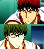 red and green. {Kagami x Midorima by Elric21