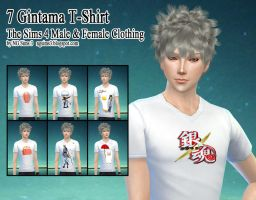7 Gintama T-Shirt The Sims 4 CC by ng9
