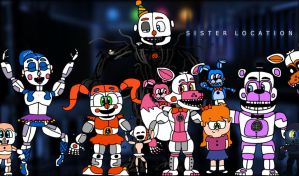 Fnaf Sister Location by aidenmoonstudios
