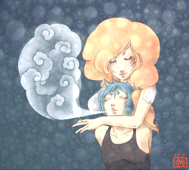 Trois and Pet Smoke Clouds by DirtyBrownPaper