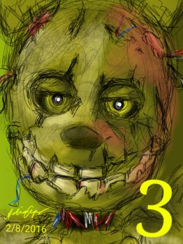 Springtrap FNAF 3 by PersianFlaw