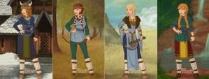 Hiccup and Astrid's Daughters by TFfan234