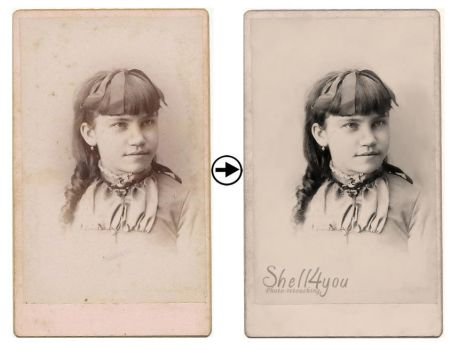 Vintage Photograph Restoration Light by Shell4You