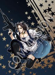 Commission of Bucky in maid suit by alexzoe