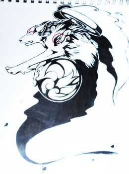 Okami Tattoo design by Pie-Master-Pru
