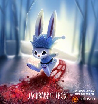 Daily Paint 1480. Jackrabbit Frost by Cryptid-Creations