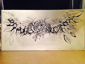 Rose Wings finished lines by Velchosus