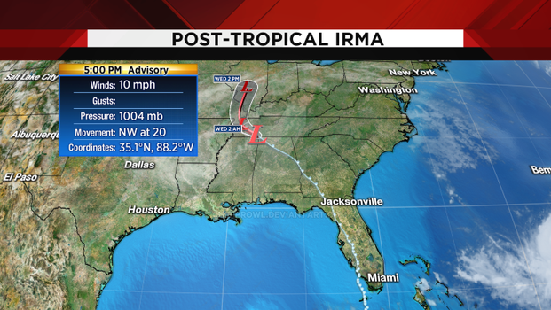 The path Irma took by ChibiProwl