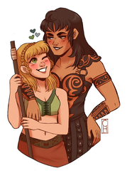 xena / gaYbrielle by Sutexii