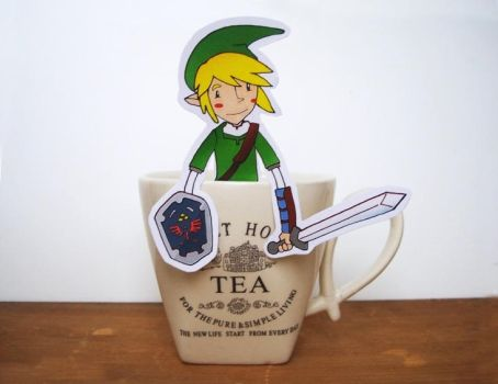 Link Legend of zelda - tea hanger by OMEGA86