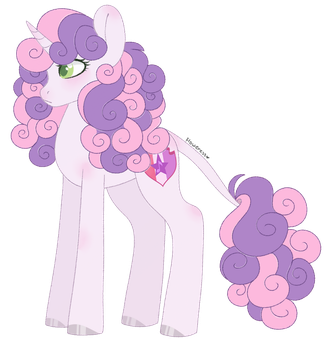 [redesign] sweetie belle by F-Ioweress