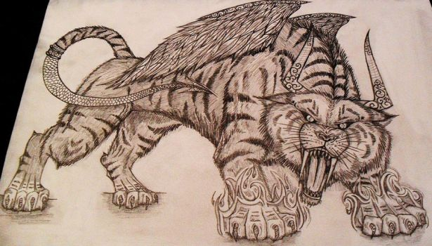 Mythical tiger by NadineSavage