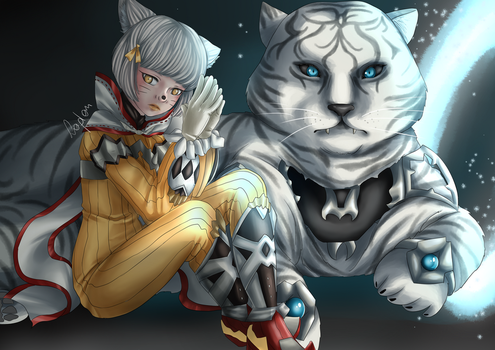 Nia and her blade {FanArt} by theLaplam