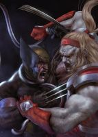 Omega Red VS Wolverine / Work in progress  by EdgarGomezArt