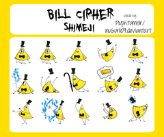 Bill Cipher Shimeji by InuGurl107