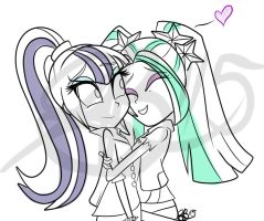 Sonata Dusk And Aira Blaze - Sister Love by xxXSketchBookXxx