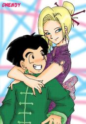 Krillin and Juu - Chinese by gwendy85