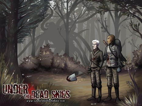 Under the Dead Skies - Xmas Wallpaper 2015 by lunajile