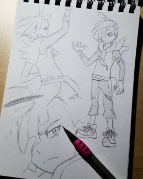 Gladion sketches by IcelectricSpyro