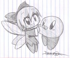 .::Kirby and Ribbon::. by Death-Note-Ninja02