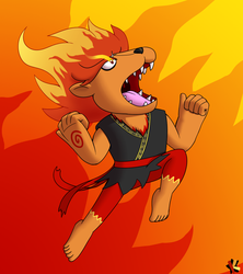 A Hot-Blooded Lion by Katonator