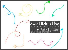 08 photoshop brushes: Pointy by swetdeaths